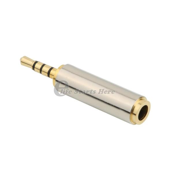 männlich 2,5 mm Stecker auf 3,5 mm Buchse Stereo-Audio-Kopfhörer-Jack-Adapter-Konverter Vergoldeter Audio-Adapter