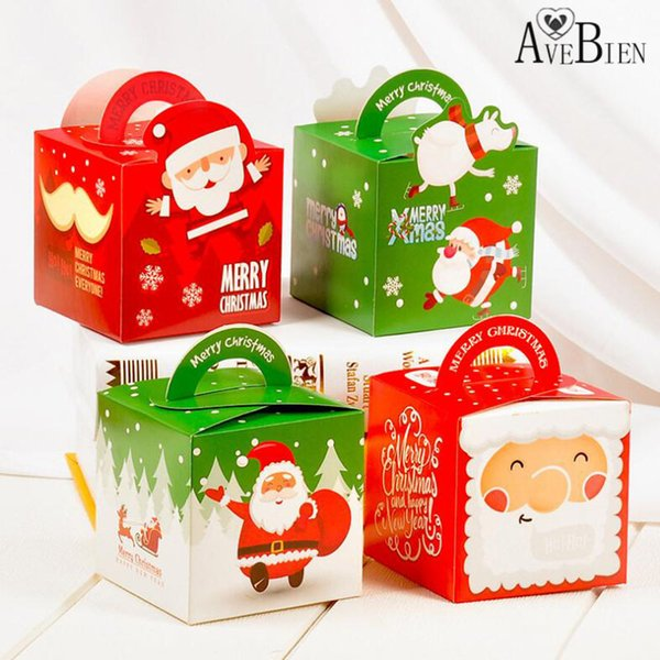 Christmas Gift Wrap Design.Avebien Creative Square Christmas Party Supplies Apple Box Portable Santa Claus Candy Box Christmas Decorations For Home Design Gift Wrap Design