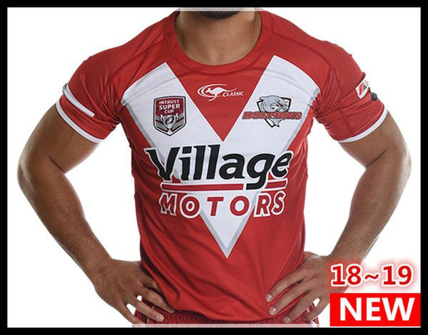 Best Quality 2018 2019 INTRUST SUPER CUP Redcliffe Dolphins Rugby Jerseys League jersey 18 19 Redcliffe Dolphins shirt s-3xl