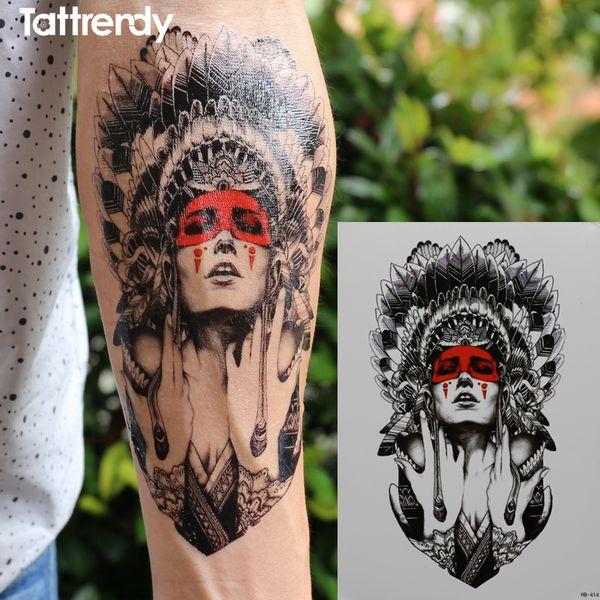 Alte frauen behalten die tränen Größe 21x15 cm Brand New Body Art tattoo Temporäre Exotische Sexy Flash Henna Tattoos Aufkleber HB414