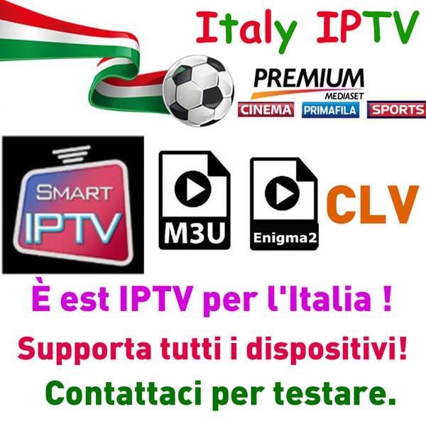 Iptv Italia For M3U Smart TV Android Enigma2 Free For Mediaset Premium  Channels UK Germany Spain Italy IPTV Europe Projektor Projectors From