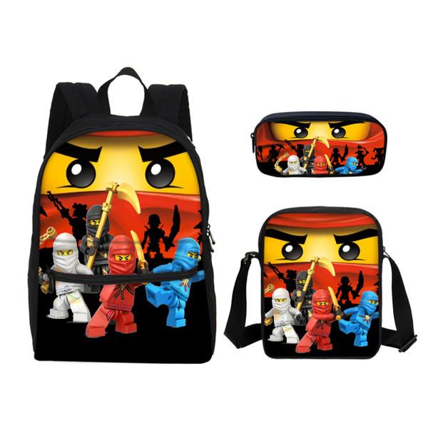 VEEVANV Lego 16 Inch Children School Bags for Kids Printing Cartoon Laptop Backpacks Pen 3D Bag Characters Ninjago Boys Shoulder