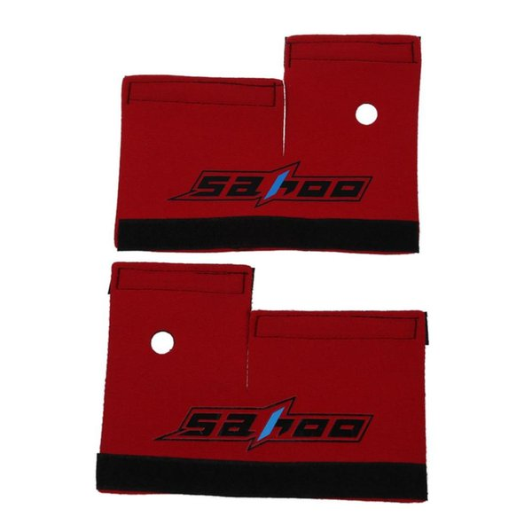 SAHOO 2pcs Cycling Mountain Bike Bicycle Front Fork Protector Wrap Cover Red