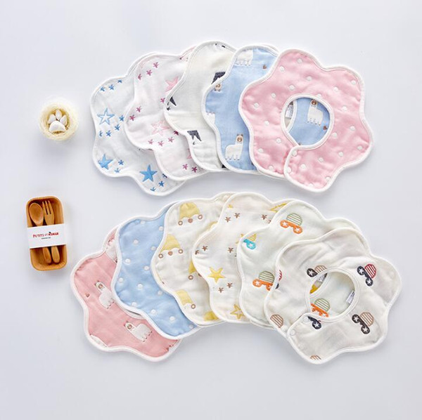 best selling Baby Bibs Burp Cloths Bandana Infant Saliva cloth INS Circular Bibs Newborn Cartoon Baby Bibs Newborn Burp Cloths