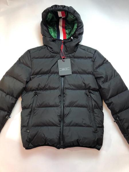 Hombres de la marca chaqueta de abajo Abrigo de Chaqueta de Invierno Gruesa Moda Caliente Con Capucha Hombre Abajo Parka Hombres de Alta Calidad Abrigo de Pato Blanco Abrigo
