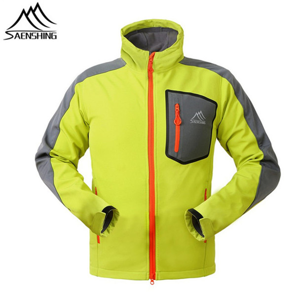 SAENSHING Outdoor Softshell Jacket Men Hunting Clothes Windproof Jacket Chaquetas Camping Hiking Climbing Sport Jackets S-3XL