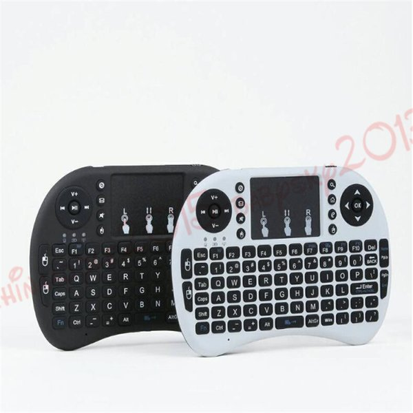 Wireless Keyboard rii i8 keyboards Fly Air Mouse Multi-Media Remote Control Touchpad Handheld for TV BOX Android Mini PC B-FS