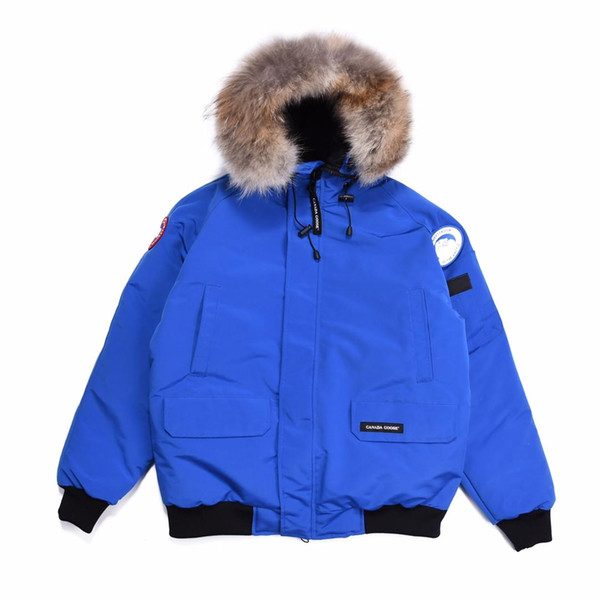 Uwback New Brand Clothing Thick Down Jackets Men Fur Collar Winter Warm Coats 2018 Winter Patchwork Zipper