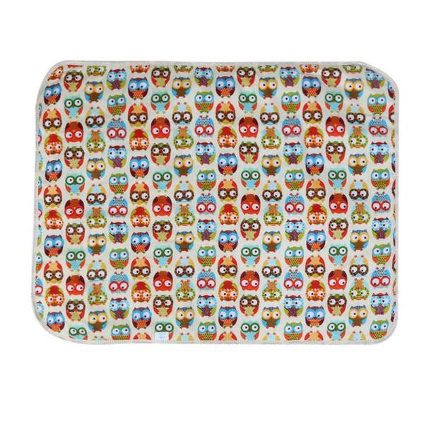 top popular Catoon Waterproof Mattress Baby Diaper Changing Pads Urine Mat Infant 3 Layer Sheet Cotton Inside Nappy Changing Mat 45*30cm 2020