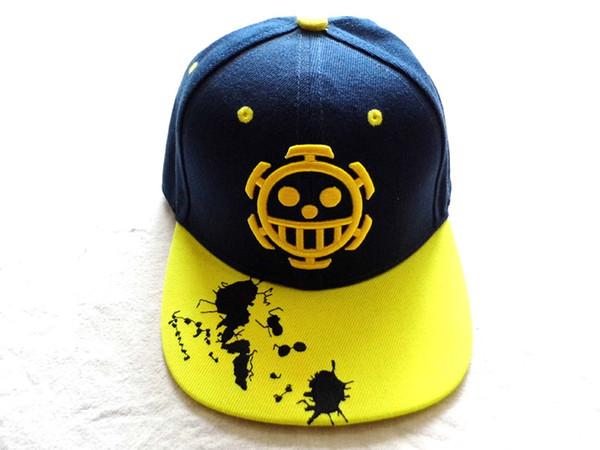 ONE PIECE Anime Trafalgar Law skull Hip-hop Hat Tony Tony Chopper/Monky D Luffy skull With Embroidery Mark Outdoor Cap Type 1