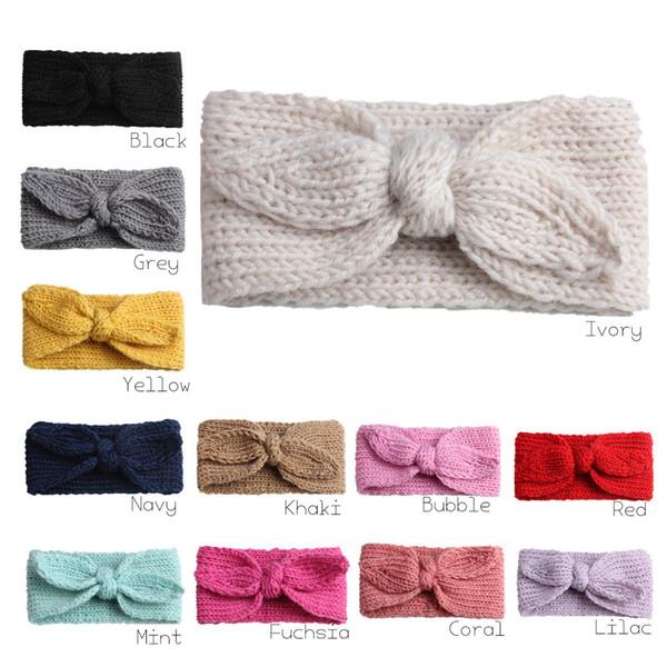 Compre Ganchillo Con Nudos Headwrap Solid Bunny Ear Headband ...