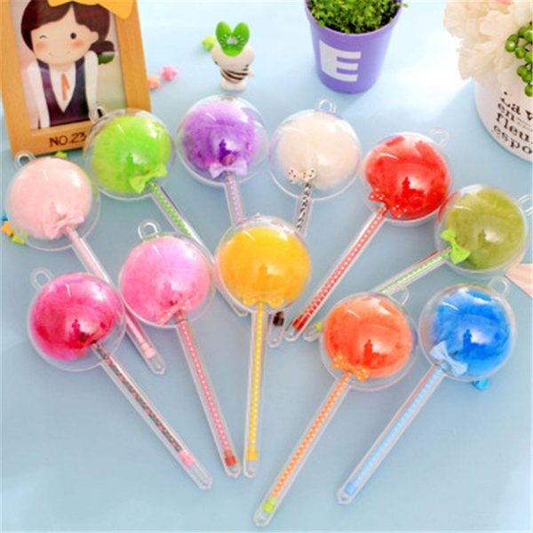 Color hair bulb Kawaii Plastic Ink Creative papelaria Gel Pen Neutral Pens For School Writing Office Supplies Pen Stationery