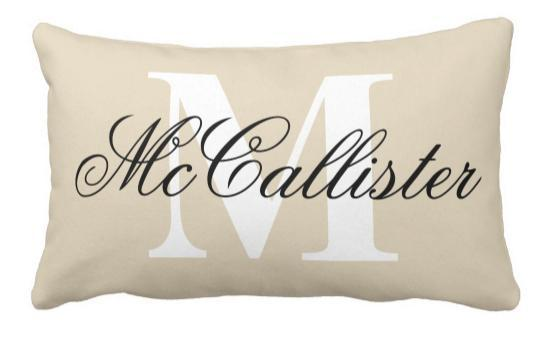 Elegant Family Name Monogram Lumbar Pillow Cushion Replacement Outdoor Sofa  Cushions Cushions For Outside Furniture From Bueaty, $9.35| DHgate.Com