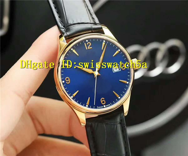 New Luxury Swiss Automatic Date Mechanical Movement Sapphire Crystal 18K Gold 316L Steel Case Leather Strap 50m Water Resistant Men Watch