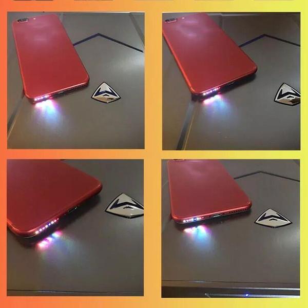 Luz led para iphone 6 alto-falante levou música glow light para iphone 7 7 plus loudspeaker levou luz música salto
