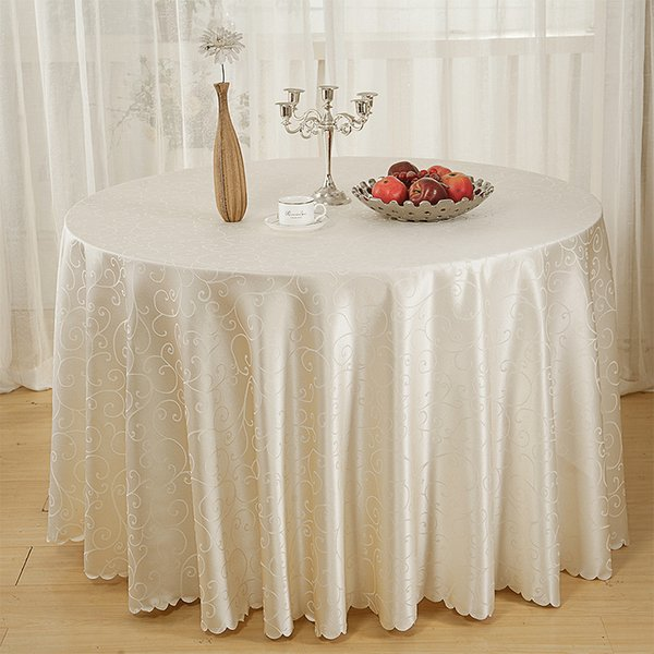 Hotel Series Jacquard Tablecloth Table Cloth Restaurant Household Round Table Skirt Tick Flower Home Ornament Home Textiles 51by3 gg