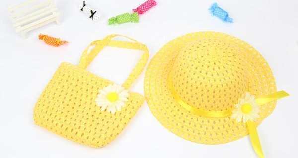 New 2018 Baby & Kids Accessories Fashion Baby Hats & Capschild Hollow Out Flowers Straw Hat Children Sun Hat Cute Girls Hats