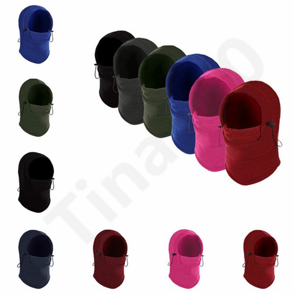 10 Colors Outdoors Riding Full Face Mask Wind Hat Balaclava Motorcycle Cap Sunscreen Warm Winter Hats Face Mask 12pcs T1I1032