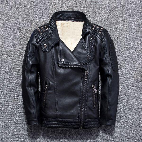 Giacche di pelle abbigliamento per bambini 2018 autunno e inverno nuovo ragazzo più giacca di velluto per bambini giacca bambino camicia marea Y18102508