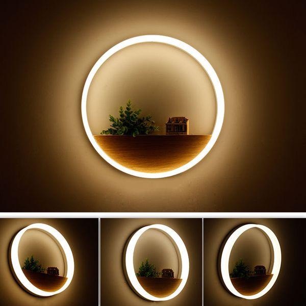 Светодиодные настенные лампы светодиодные бра свет акриловые современные украшения дома настенный светильник для прикроватных спальня / столовая / туалет с лампочками