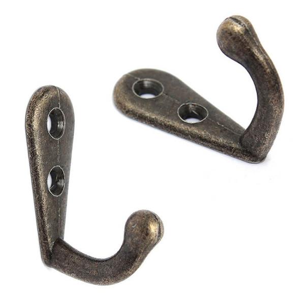 10PCS Cloth Hook Hangers Vintage Bronze Wall Hook Rustic Key Coat Bag Hat Hanger Rustic Robe Hooks Wall Hanging Hooks HD0121