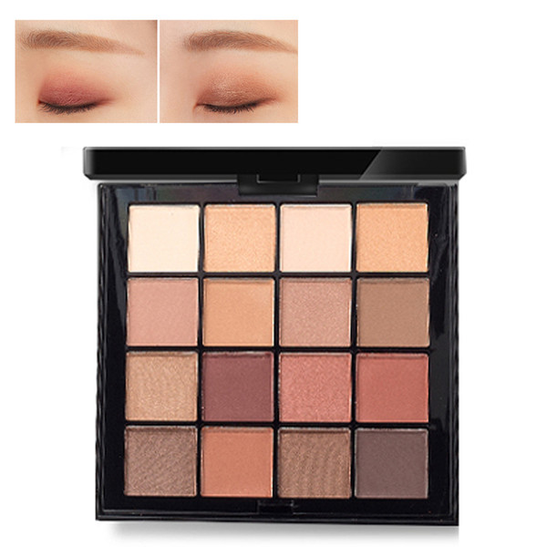 ICYCHEER 16 Color Matte & Shimmer Eye Shadow Palette Pro Nudes Warm Natural Bronze Neutral Smokey Shades Eyeshadow Palette