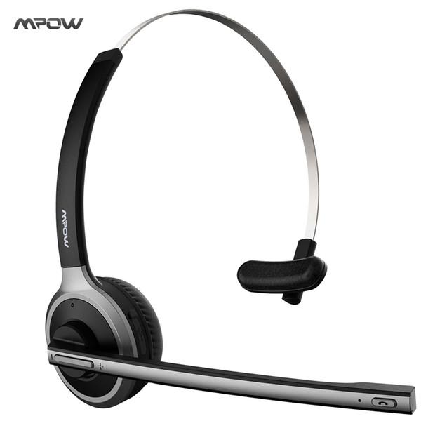 2017 Nuovo cuffie Mpow Bluetooth 4.1 Cuffie senza fili a cancellazione di rumore senza fili per autisti di camion, call center, ufficio
