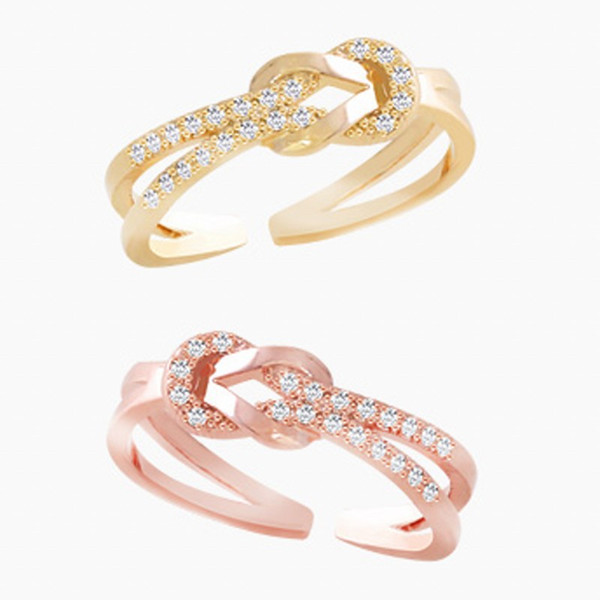 Open ring jewelry Korea's simple food ring air personality couple ring