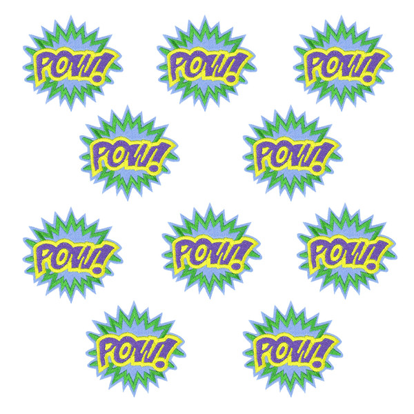 Diy Pow patches for clothing iron embroidered patch applique iron on patches sewing accessories badge stickers for clothes bags
