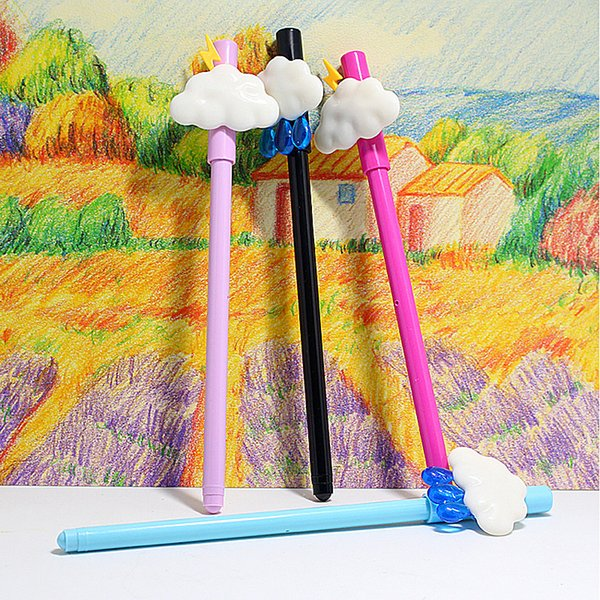 36pcs/lot Creative small fresh and lovely cloud pen neutral plastic pen pole 0.5mm black learning supplies