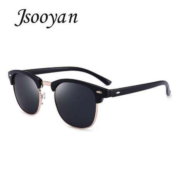 Jsooyan Polarized Sunglasses Men Fashion Night Vision Driving Sunglass Classic Retro Round Shades Sun Glasses Male Eyewear