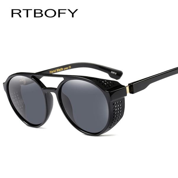 Gafas de sol RTBOFY Steampunk para hombres y mujeres Diseño vintage Tonos Moda Gafas de sol Goggle UV400 D18101302