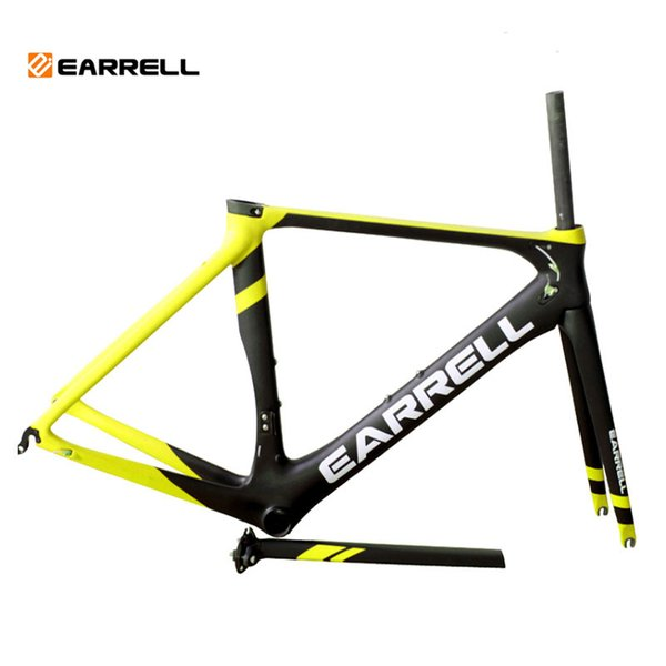 EARRELL carbone raod cadre brompton carbone cadre de vélo accessoires de vélo partie de vélo course de vélo cadre de vélo partie 50/53 / 56cm