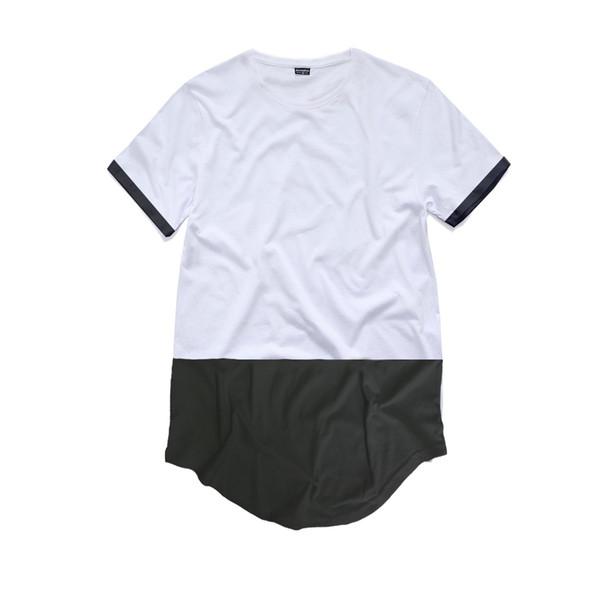 Mann-Hauptstraße getäfelte beiläufige T-Shirt-Männer Normallack-Crew-Hals-T-Stücke männliche kurze Hülse übersteigt freies Verschiffen