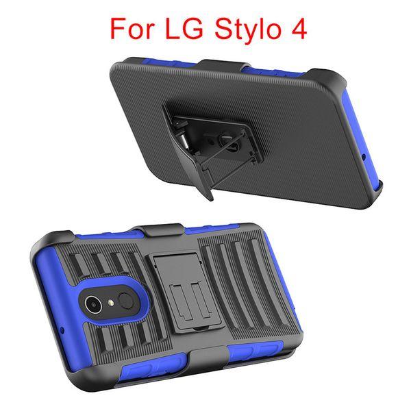 Para lg stylo 4 metropcs híbrido armadura case capa robô combo heavy duty com clipe phone case para lg aristo 2 metropc b