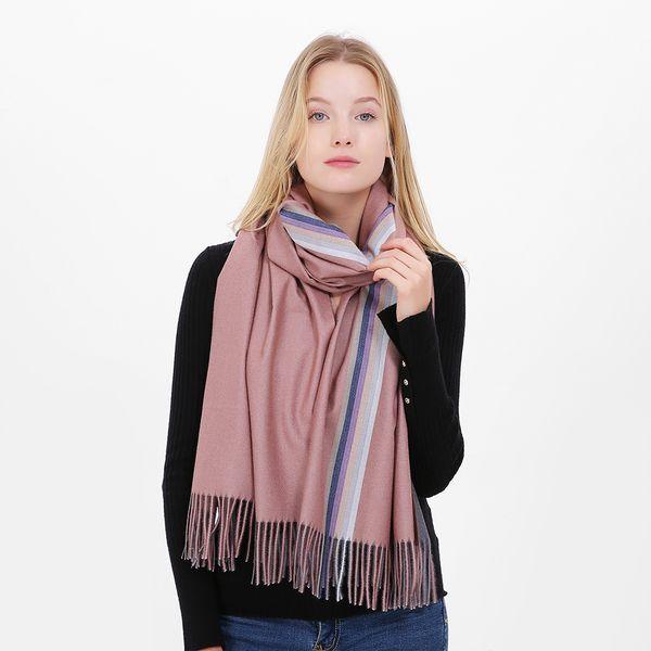 Women stripes pashmina scarf made of Cashmere - like acrylic Soft Lady Christmas gift Birthday gift valentine's day gift