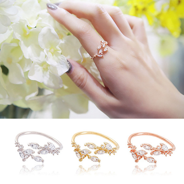 Korean fashion diamond-encrusted female ring adjustable ring jewelry factory direct wholesale