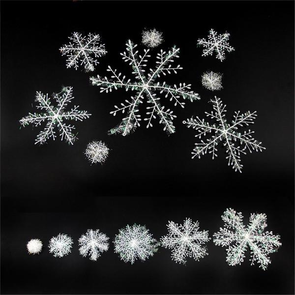 Joyeux arbre de Noël flocon de neige en plastique marché hôtel affichage fenêtre Arrangement flocons de neige décoration cadeau Festive Party Supplies 0 65fg6 bb