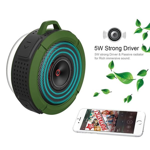 Bluetooth 3.0 Wireless mini Speakers Waterproof Shower C6 Speaker with 5W Strong Driver Long Battery Life and Mic new