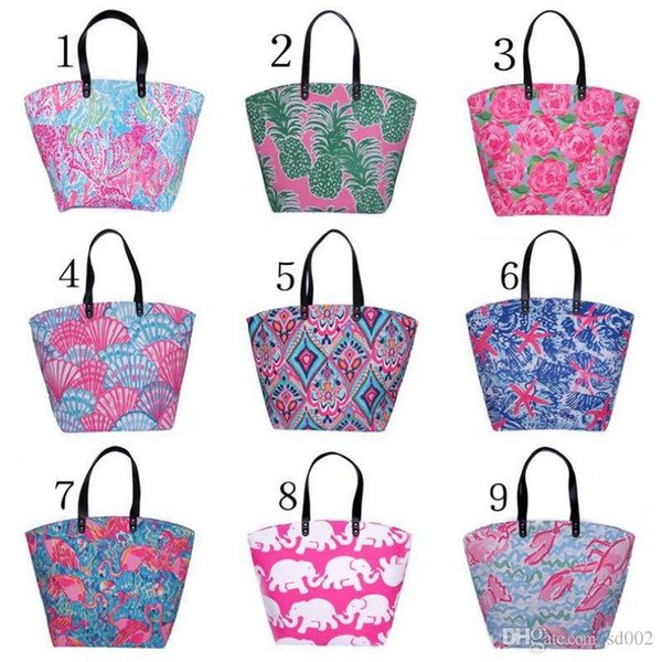 Printing Lilly Handbag Classic Style For Women Beach Storage Bags High Capacity Polyester Fiber Travel Shopping Bag Fashion 23yh ZZ