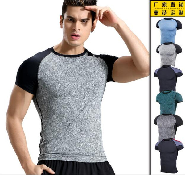 clearance prices good service newest style Compression Men Running Tshirts Wholesale Polyester Spandex Tshirts Sports  Tops High Quality Tees Fitting Garments,NO MOQ Request T Shirts Very Funny  ...