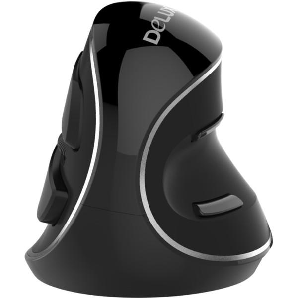 Delux M618 Plus Ergonomische drahtlose vertikale Maus 6D Funktion 800/1200/1600 DPI optische gesunde Mäuse mit abnehmbarer Handballenauflage