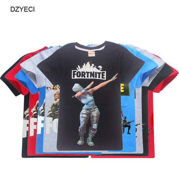 be9a1aa5d47a Fortnite Game T Shirt For Big Boy Girl Clothes Costume Fornite Fortnight Kid  Cotton Print Tee