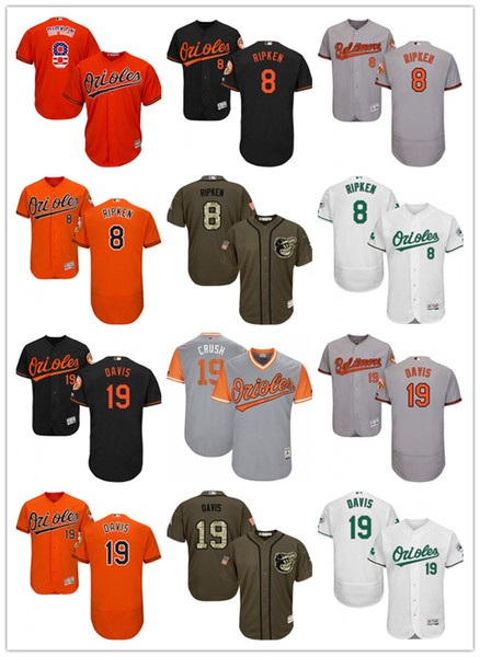 100% authentic dc285 a1dc6 2018 Mens Womens Youth Baltimore Orioles #8 Cal Ripken 19 Chris Davis Crush  Green Salute To Service Baseball Jerseys From Aixi01, $18.1   Dhgate.Com