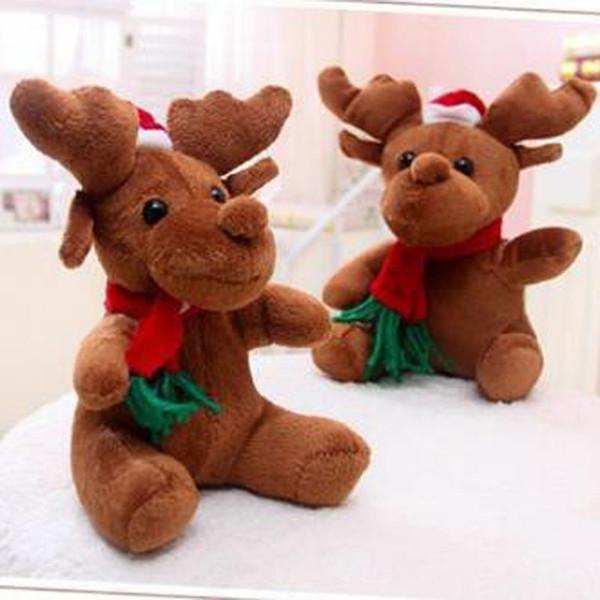 Venta caliente Navidad Elf Mascota Reno Juguete de Felpa Mascota Juguetes de Navidad Regalos Niño Niños Navidad Elk Muñeca