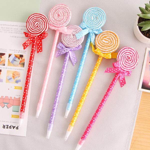 Cartoon Cute Kawaii Lollipop Ballpoint Pen Kid Doll Pen Blue Ink Beautiful Nice Creative Stationery School Supplies
