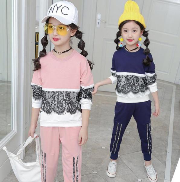 Sports Costume Pour Les Filles Dentelle Vêtements Pour Les Filles Automne Infant Fille Vêtements Printemps Adolescente Filles Vêtements 8 11 13 Ans