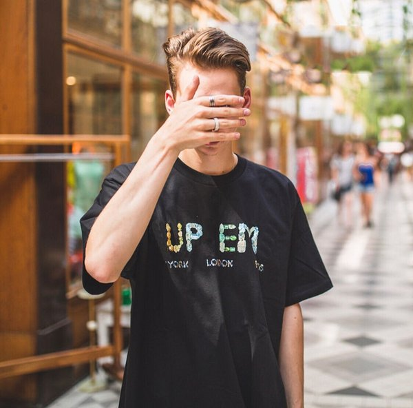 18 box logo ummer rock cry tal tee top color luxury treet kateboard fa hion hort leeved ca ual outdoor tour t hirt hfymtx362, White;black