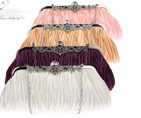 Abendparty-Taschenbankett des heißen Verkaufs 2018 einfacher Aufbereiterhandtasche Kosmetische Make-upkupplung mit vielen vielen färben