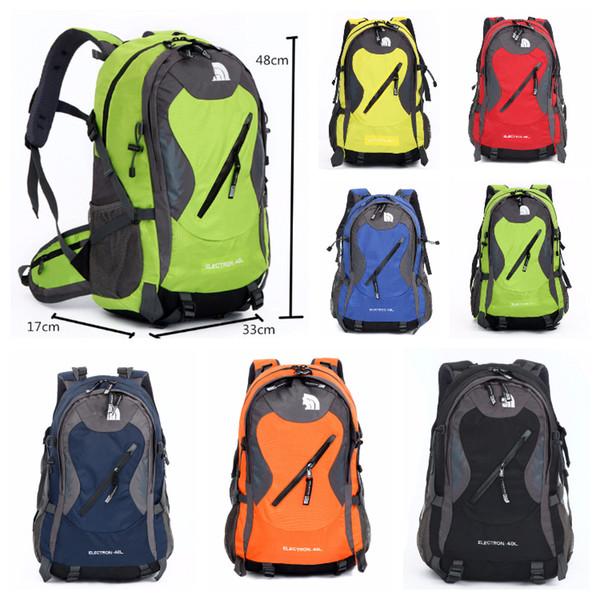 7 color the north f travel backpack teenager bag ca ual hiking camping backpack waterproof outdoor port bag multi pocket